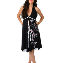 Pretty Pushers Labor Gown – Prints – coffee, sushi or cosmos!