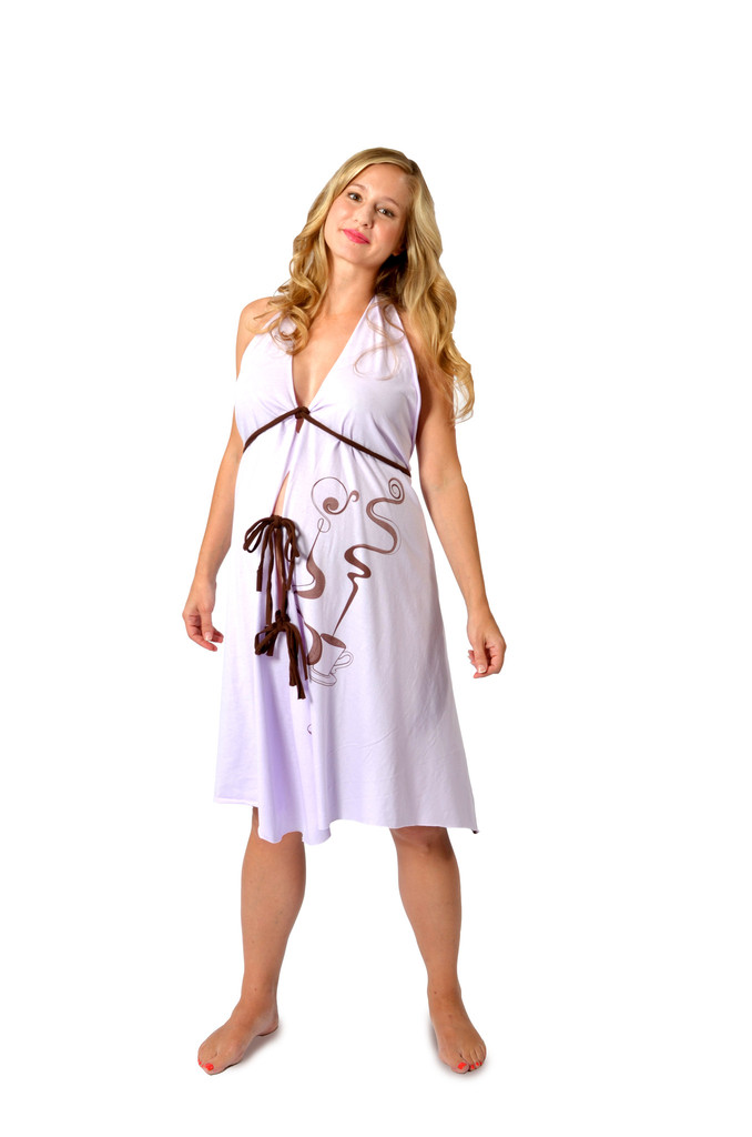 Pretty Pushers Labor Gown – Prints – coffee, sushi or cosmos ...
